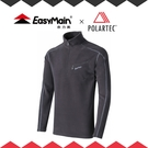 【EasyMain 男 高效能輕暖休閒衫《灰》】SE17067-70/快乾機能衣/戶外中層衣/立領Polo衫