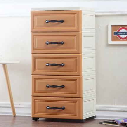 小C推薦收納櫃大號簡易衣櫥美式仿木五鬥櫥儲物箱收納箱抽屜式塑料