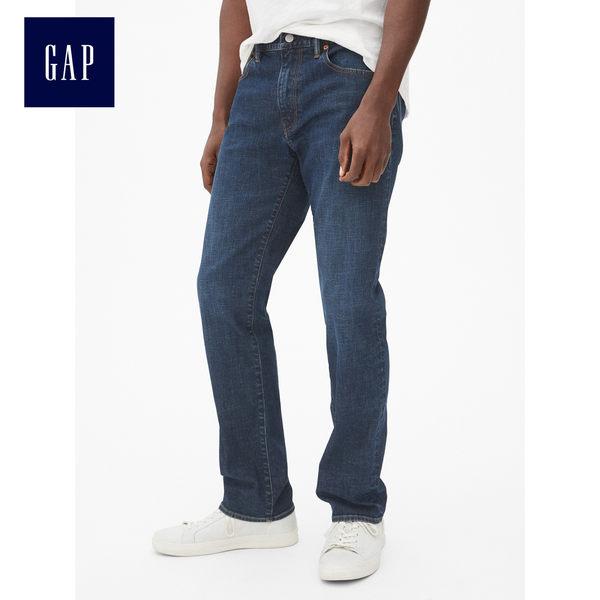 Gap男裝 彈力直筒休閒牛仔褲 459352-做舊牛仔