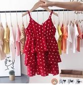 女童連身裙吊帶裙背心裙韓版夏季沙灘裙【淘夢屋】