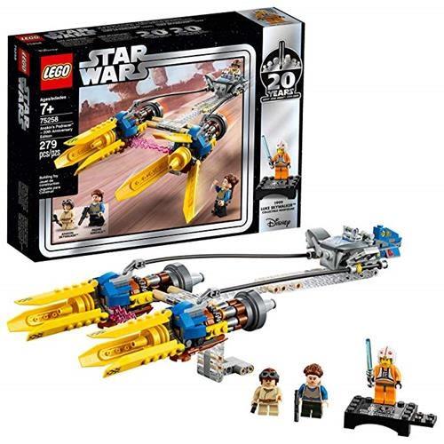 LEGO 樂高 Star Wars: The Phantom Menace Anakin s Podracer-20th Anniversary Edition 75258 Building Kit (279 Piece)
