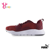 PUMA 中童 WIRED KNIT PS 綁帶輕量運動鞋 慢跑鞋 J9580#紅色◆OSOME奧森鞋業