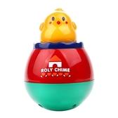 小雞不倒翁寶寶帶音樂嬰兒大號益智玩具6-12個月 水晶鞋坊