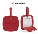 WENGER 威戈 高質感行李吊牌 PU吊牌 掛牌 姓名牌 行李掛牌 604541 (紅色)