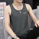 夏季男士背心圓領純棉夏季冰絲透氣運動緊身無袖坎肩修身健身t恤 『新佰數位屋』
