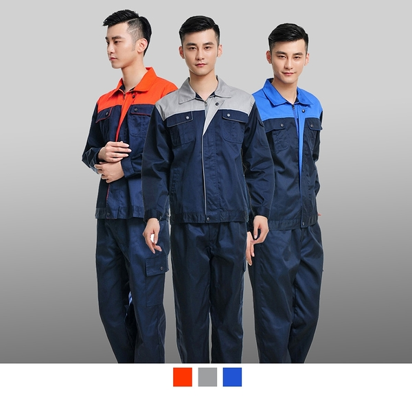 晶輝專業團體制服*CH091*上衣長袖帆布透氣長袖汽修廠工廠工程電子業工作服