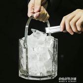 玻璃保溫紅酒啤酒冰桶家用KTV酒吧歐式冰塊 香檳桶 冰粒桶  朵拉朵衣櫥