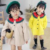 女童洋氣外套春秋2018新款3寶寶外套開襟風衣熊猫本