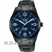 ALBA  城市情人太陽能時尚手錶/黑