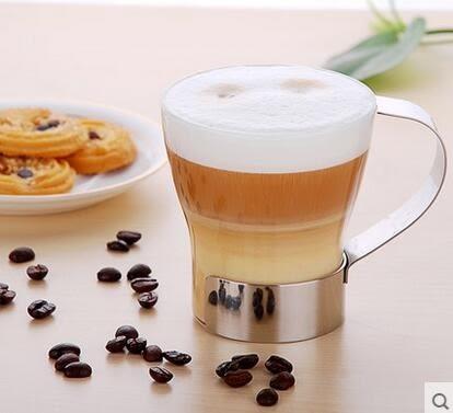 耐熱玻璃杯 透明玻璃水杯加厚創意簡約玻璃花茶杯 單只裝