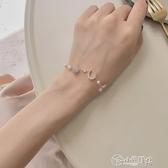 手鍊 少女心手鍊小眾設計閨蜜學生簡約星月手飾韓版個性超仙冷淡風