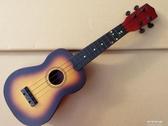 21寸夏威夷烏克麗麗木質兒童吉他四弦琴S型烏克裡裡酒紅YJT 流行花園