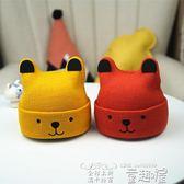 嬰兒帽 嬰兒帽子0-3-6-12個月秋冬保暖男新生兒針織套頭帽女寶寶毛線帽潮 童趣屋