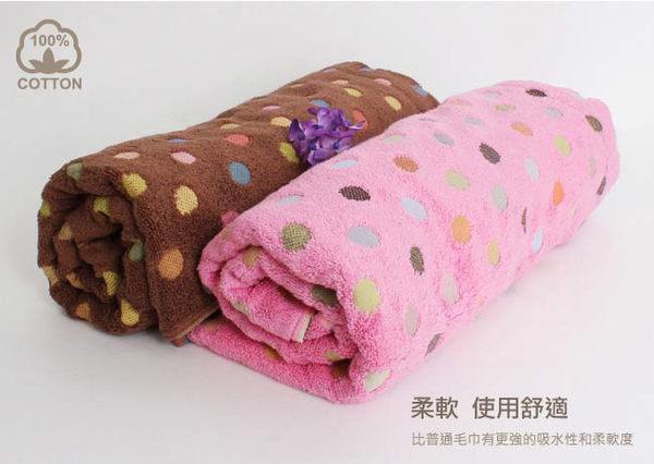 里和Riho LOVEL日系繽紛圓點嚴選精梳棉浴巾 74x140cm 3色可選 毛巾