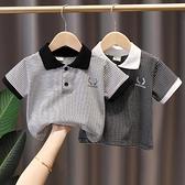 男童T恤 童裝男童短袖t恤夏裝兒童條紋體恤上衣夏季小童polo半袖T新款潮【快速出貨】