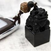 交換禮物-黑檀木貔貅手工汽車鑰匙扣菩提根鑰匙掛件創意禮品送人招財保平安
