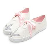 PLAYBOY 悠活亮蔥 綁帶休閒鞋-白(Y5201白)