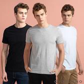 【GIORDANO】男裝簡約素色純棉圓領短袖T恤(三件裝)- 22 標誌白/標誌黑/中花灰