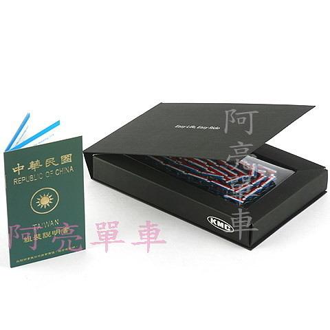 *阿亮單車*KMC彩色鏈條,盒裝,中華民國國旗圖案 10速《C30-557》