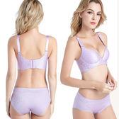 莎邦婗 一片式無鋼圈雕花鏤空透氣內衣 34C--42C 8805 粉紫色