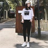 套裝運動女時尚正韓學生寬鬆休閒服短袖兩件套潮【七夕全館88折】