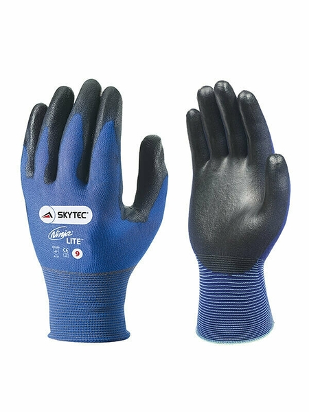 英國代購 兩副手套入 Skytec Ninja LITE Ultra Lightweight PU Nylon Lycra General Handling Work Gloves