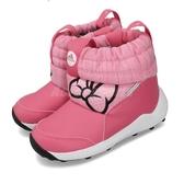 adidas 休閒鞋 RapidaSnow Minnie I 粉紅 黑 童鞋 小童鞋 米妮 雪靴 靴子 【PUMP306】 G27543