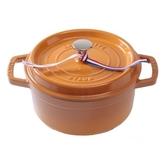 Staub 圓形琺瑯鑄鐵鍋 18cm 1.7L 芥末黃 法國製