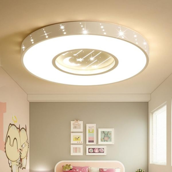 V兒童燈臥室燈創意女孩公主房間燈led吸頂燈簡約客廳燈具