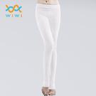 【WIWI】MIT溫灸刷毛踩腳發熱褲(純淨白 女S-2XL)