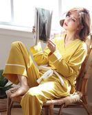 尾牙年貨節睡衣女春秋純棉長袖薄款秋季女士韓版大碼冬可外穿家居服兩件套裝gogo購