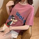 大學T寬鬆大碼短袖T恤中長款寬松印花短袖T恤女TBF12胖妞衣櫥