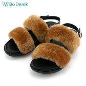★新品上市★【Bo Derek】絨毛涼鞋-駝