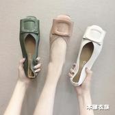降價兩天 2020秋新款淺口豆豆鞋韓版百搭蛋卷鞋方頭奶奶鞋軟底平底鞋女單鞋
