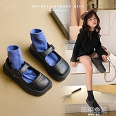 真皮黑色女童皮鞋2021春秋款新款軟底兒童單鞋英倫風寶寶小公主鞋