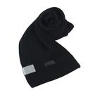 【南紡購物中心】MICHAEL KORS縮寫LOGO針織圍巾-黑
