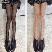 薄款英文印花絲襪復古提花圖案連褲襪性感黑色打底襪女