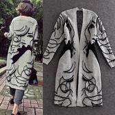 針織外套-秋冬人像長版女罩衫3色73pp29【時尚巴黎】