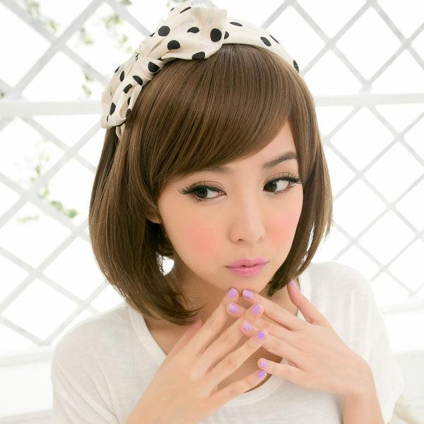 短髮~甜心GIRL斜瀏海BOBO頭【A092B】高仿真整頂假髮☆雙兒網