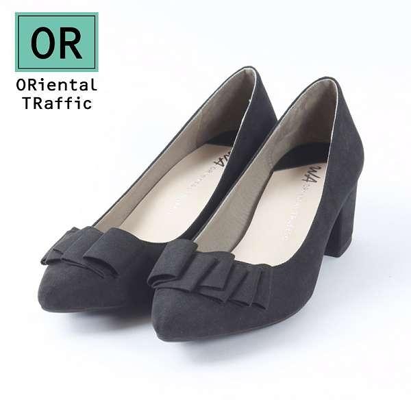 【ORiental TRaffic】氣質優雅緞帶中跟鞋-經典黑