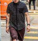 FINDSENSE Z1 日系 大尺碼 時尚 街頭 潮 男裝 短袖襯衫 雪花圖案