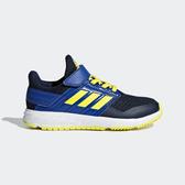 Adidas FortaFaito EL K [F36102] 中童鞋 運動 魔鬼氈 舒適 透氣 包覆 愛迪達 藍黑