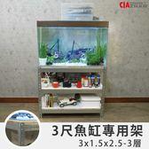 鍍鋅 3呎缸 水族魚缸架【空間特工】耐銹蝕材質  水草缸 組合式收納櫃 飼料架 置物架 FTZ31525