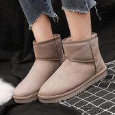 雪地靴女冬季短筒韓版百搭學生厚底棉鞋女加絨加厚短靴子【街頭布衣】