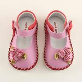 【愛的世界】玫瑰花寶寶鞋/學步鞋-台灣製- ★童鞋童襪