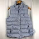 BRAND楓月 POLO Ralph Lauren 藍白色系 條紋風格 羽絨背心 羽絨外套 #SP 百搭 防風 輕盈