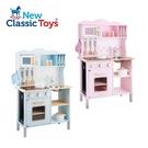 New Classic Toys 荷蘭木製廚房玩具 聲光小主廚系列 櫻花粉/天空藍 (含配件12件)