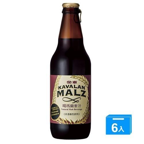 金車KAVALAN噶瑪蘭麥汁330mlx6瓶【愛買】