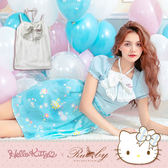 上衣 Hello Kitty x Ruby 聯名款-蝴蝶結繞頸細肩帶背心上衣-Ruby s 露比午茶