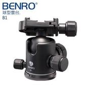 【聖影數位】Benro 百諾 B1 球型雲台 360度刻盤  阻尼調節 超大球體 載重12KG【公司貨】快板PU60